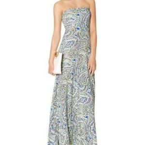 The Limited Strapless Paisley Maxi Dress